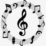 Muzieknoot symbolen typen (♪ en ♫)